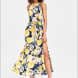 Dresses & Skirts - Floral Print slit Maxi Dress